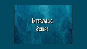 intervallic script