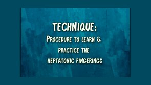 procedure to practice fingerings