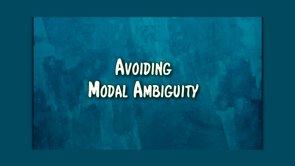 modal ambiguity