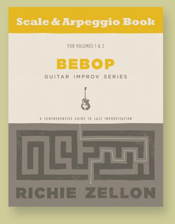 Bebop Guitar Improv Series Scale & Arpeggio Book